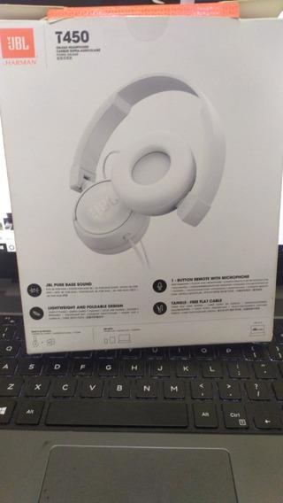 Fone De Ouvido Headset Jbl Branco Original T450 Serv Play4