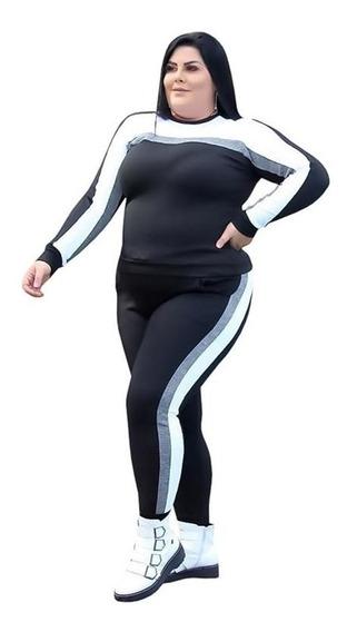 Roupas Femininas Conjunto Folgadinho Shorts Blusa Plus Size