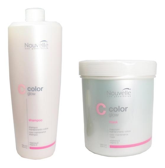 Kit Protector Color Glow Nouvelle Coloración Pelo Sham + Mas