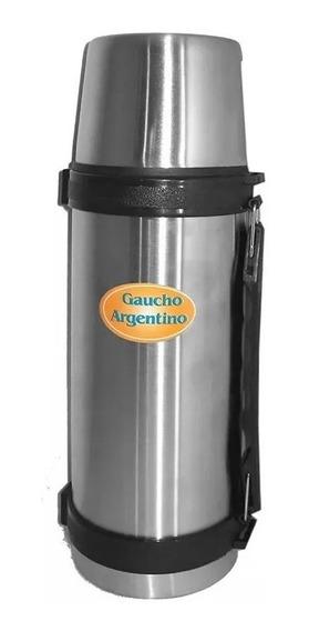Termo Gaucho Argentino 1 Litro Con Manija Acero Inoxidable