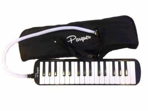 Flauta Melodica Parquer 32 Notas Con Funda Completa