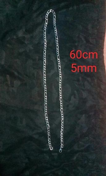 Corente De Prata ( Banhada ) 60cm