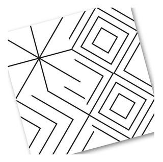 Azulejos Pvc Adhesivos B/n Laminas 120x60