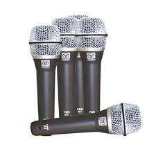Kit Com 5 Microfone Dinâmico C/ Fio Pra-d5 - Superlux
