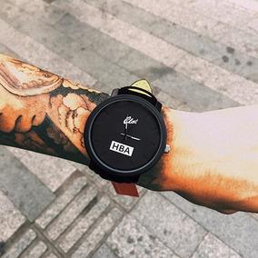 Relógio Masculino Hba Com Pulseira De Couro - Frete Grátis