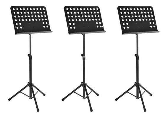 Kit Com 10 Estantes Suporte Tripé Partitura Maestro Resistente