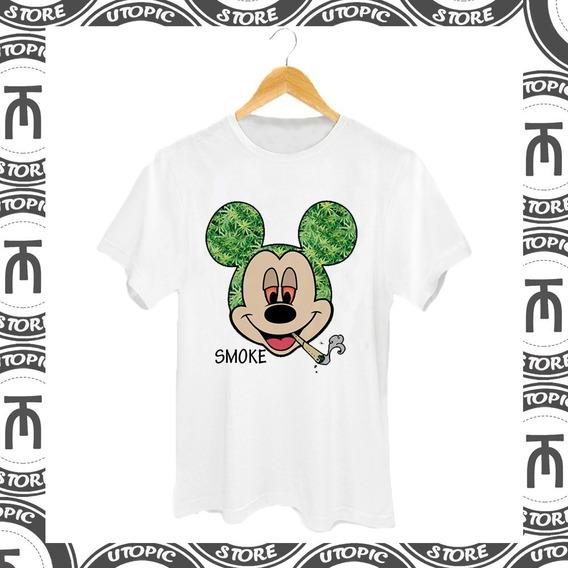 Camiseta Mickey - Cannabis - Camiseta Maconha