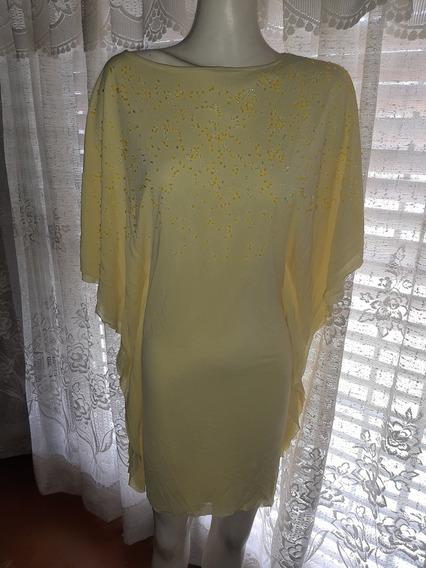 Vestido De Fiesta Amarillo Marca Peuque