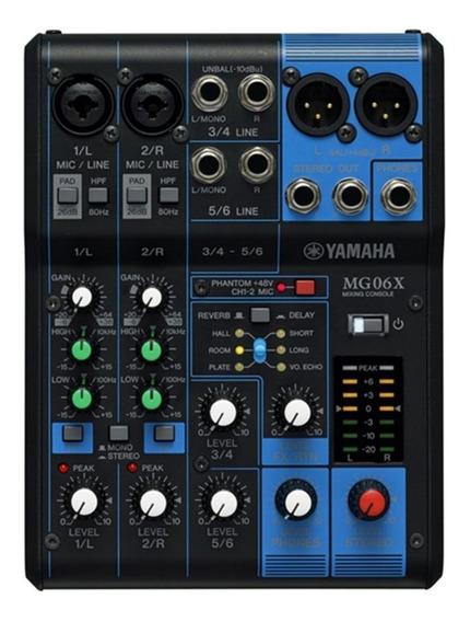 Mesa De Som 06 Canais Yamaha Mg06x - Com Fonte