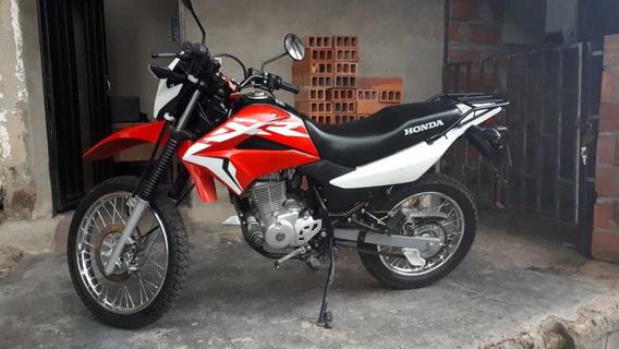 Honda Xr150l Roja Y Balnca