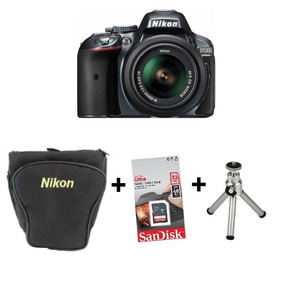 Câmera Nikon D5300 C/ 18-55mm + Sd 32gb + Bolsa +tripé + Nf