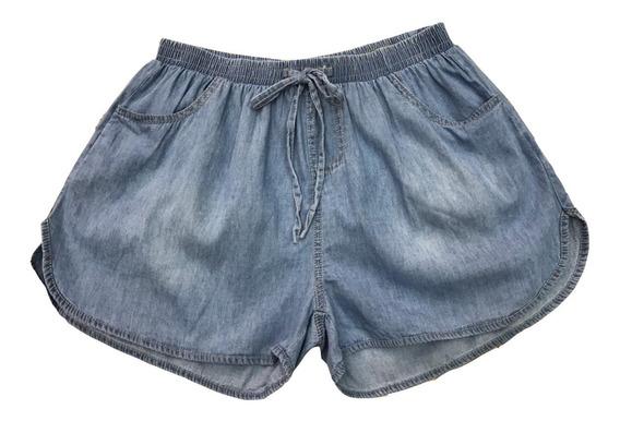 Short Jeans Cintura Elástico Verão Plus Size (g1-4) Importar
