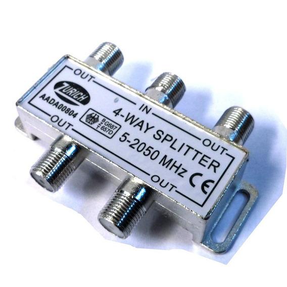 Derivador Splitter Coaxil 4 Vias 5-2050 Mhz E8072