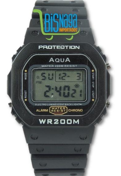 Relógio Digital Masculino C Shock Preto Quadrado Esporte