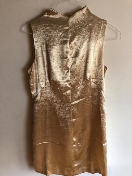 Vestido Dorado Dama, Usado Buenas Condiciones