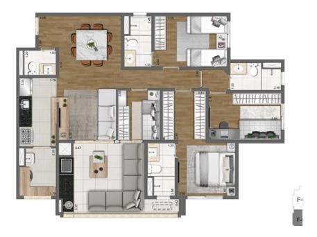 Apartamento Com 3 Suítes Na Moóca