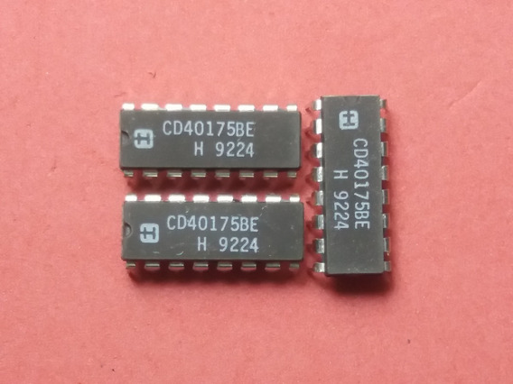Cmos Cd 40175 Be Quad D-type Flip-flopp.