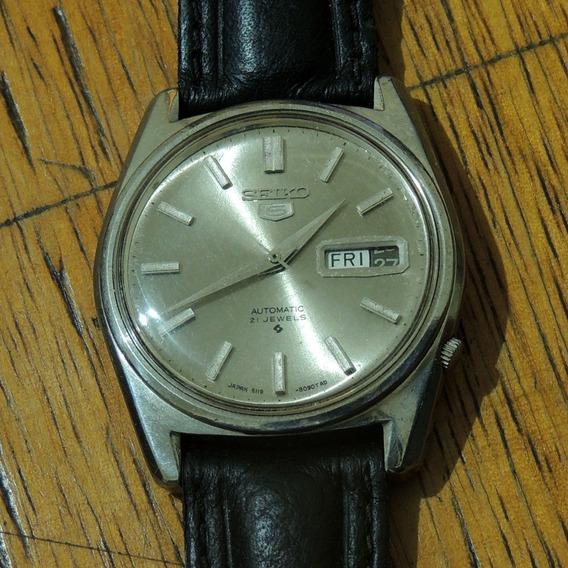 Relógio Seiko 5 Modelo 6119 8090t Ad - Automático - Antigo - Coleção