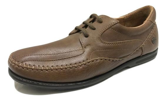 Zapato Cavatini 76-6712-flor Tabaco-acordonado