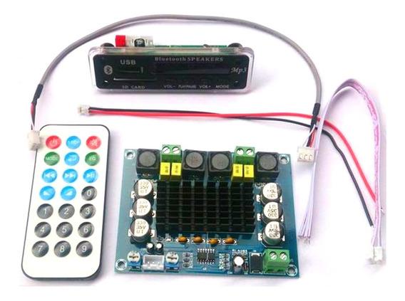 Modulo Decodificador Bluetooth + Amplificador De Som 2x 120w