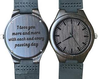 Reloj De Madera Personalizado Para Hombre Papa Hijo Hijo Gra