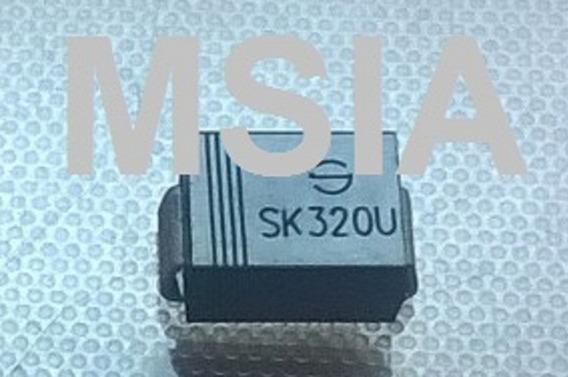 Lote 6 Pçs Diodo Smd Sk320u Sk320 U Novo - Frete Barato - &
