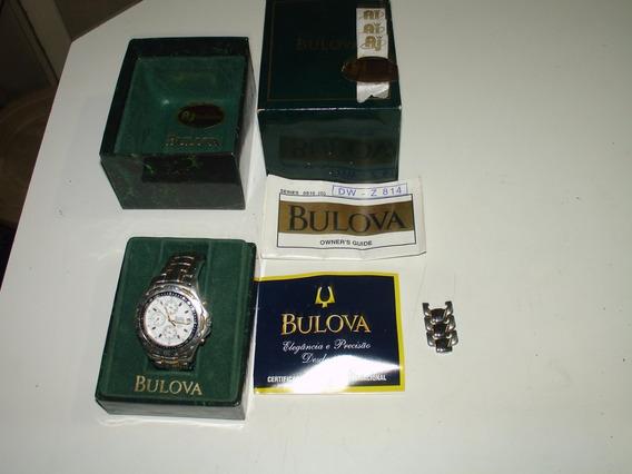 = Relogio De Pulso Bulova Chronograph Original Completo Dono