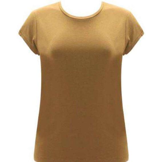 Blusa Malha Seiki 130002 - Mostarda - Delabela Calçados
