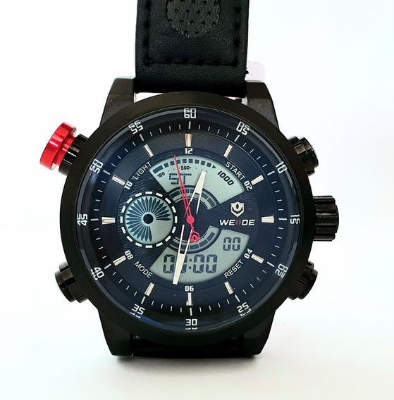 Relógio Masculino Analógico Digital Premium Weide Wh3401 Pt