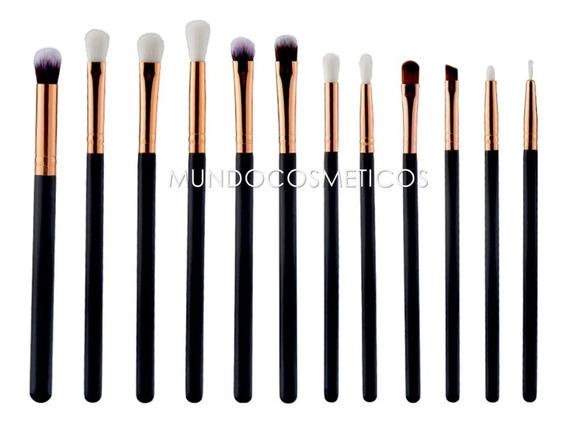 Set 12 Brochas Ojos Difuminadoras Profesionales Maquillaje