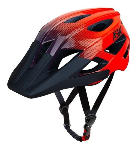 Capacete Ciclismo Bike Asw Accel Dots Laranja Azul   NOVAERA MOTO