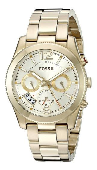 Relógio Fossil Dourado - Es3884/4di