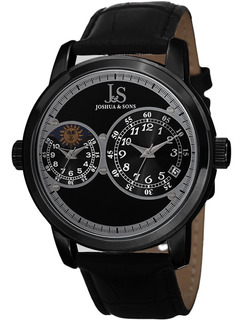Reloj Joshua & Sons Para Hombre Js87bk Metálico, Pulso De