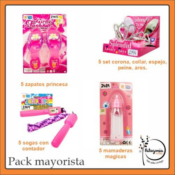 Pack Juguetes Set Princesa+zapatos+soga+mamadera Niños