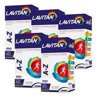 Polivitamínico Lavitan A-z - 5x 60 Comprimidos - Cimed