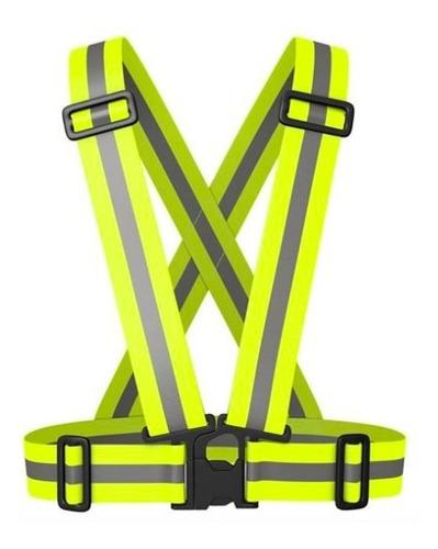 Cinta Chaleco Reflectiva Amarilla Elastica Regulable Broche