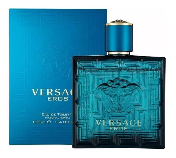 Perfume Versace Eros Edt 100ml Masculino Original Lacrado