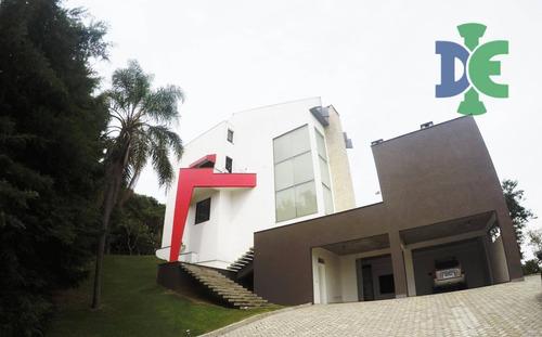 Chácara Com 3 Dormitórios À Venda, 2200 M² Por R$ 3.200.000 - Chácaras Condomínio Recanto Pássaros Ii - Jacareí/sp - Ch0047