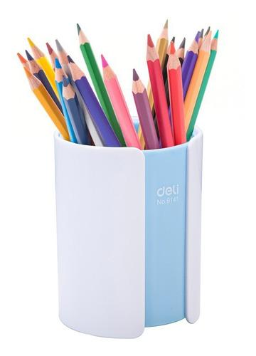 Imagen 1 de 5 de Portalapices Deli De Plástico 10x8cm Varios Colores Febo