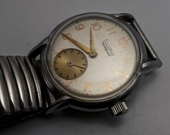 Relógio Silvana Corda Manual Caixa De Aço