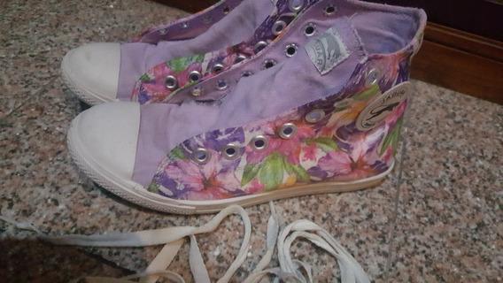 Zapatillas Botita Jaguar - Flores - Mujer