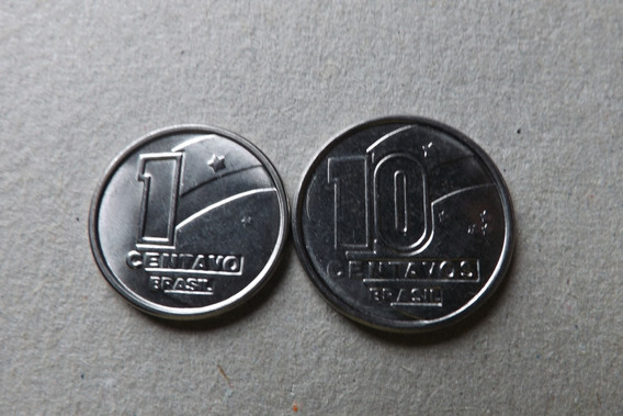 Raras- 1 E 10 Centavos 1990 Lote 2