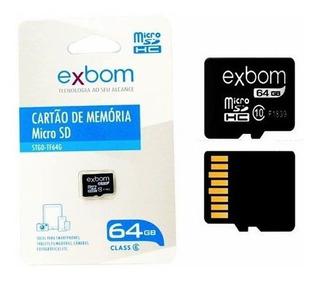 Kit 3 Cartão De Memória 64 Gb Micro Sd Original Lacrado