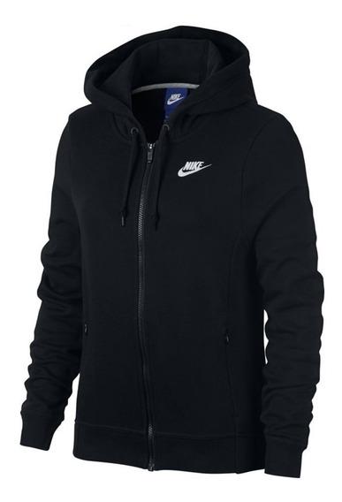 Campera Nike Hoodie Negro Mujer