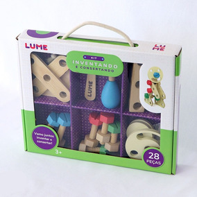 Brinquedo Lúdico De Madeira Inventando E Consertando Lume