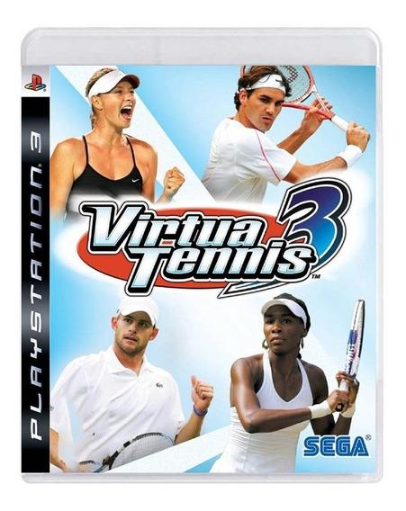 Virtua Tennis 3 Ps3 Mídia Física Pronta Entrega