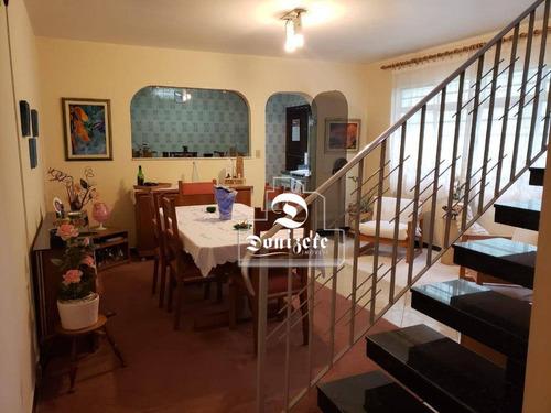 Sobrado Com 3 Dormitórios À Venda, 185 M² Por R$ 800.000,00 - Vila Bastos - Santo André/sp - So0638