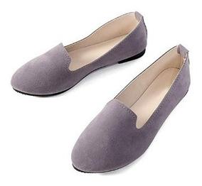 Slduv Flats Zapatos De Ballet Planos Comodos Para Damas Gris