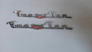 Insignia Auto Chevrolet Two Ten Decada 1950