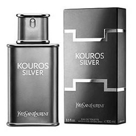 Kouros Silver Yves Saint Laurent 100 Ml Edt 3.3 Fl.oz.